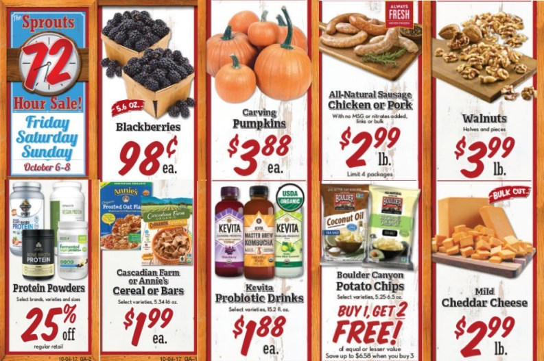 Sprouts 72 Hour Sale