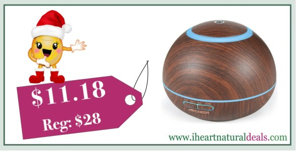 ARCHEER 300ML Wood Ultrasonic Oil Diffuser