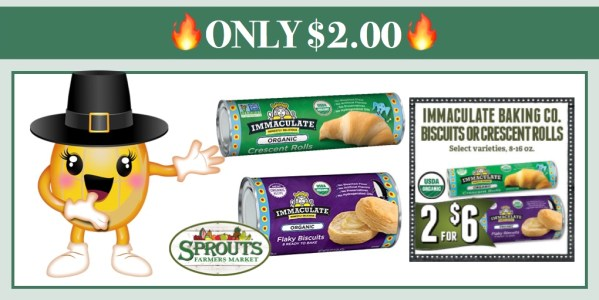 Immaculate Baking Biscuits or Crescent Rolls Coupon Deal