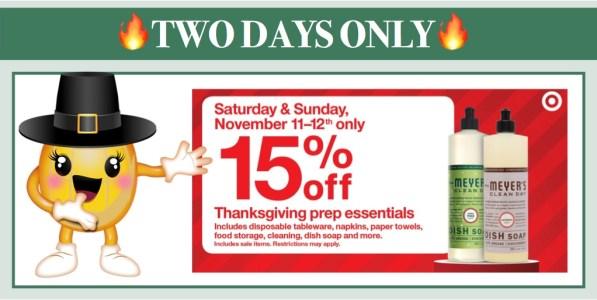 Target 15% off Thanksgiving Prep Essentials