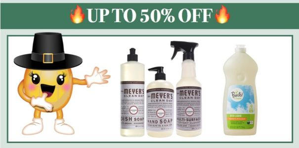 Up to 50% off Mrs. Meyers Dish Soap and More on Amazon