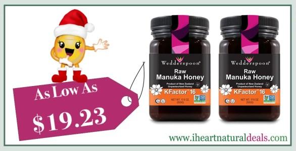 Wedderspoon Raw Premium Manuka Honey KFactor 16+