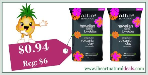 Alba Botanica Hawaiian Detox Towelettes