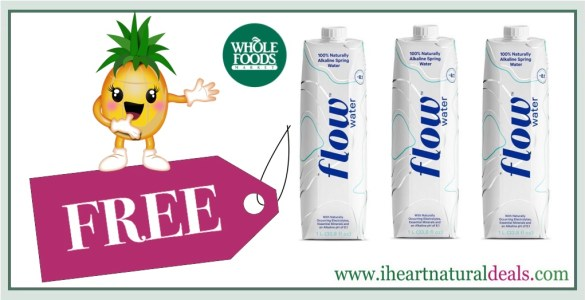 FREE 1L Box of Flow Water at Whole Foods!