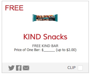 Free Kind Snack Bar Coupon