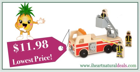 Melissa & Doug Wooden Fire Truck