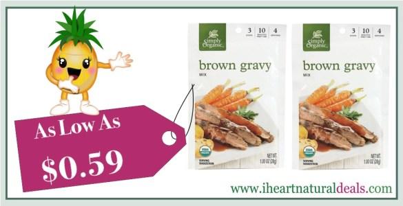 Simply Organic Brown Gravy Seasoning Mix 12 Pack