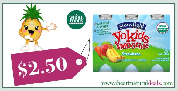 Stonyfield YoKids Smoothie 6 Pack