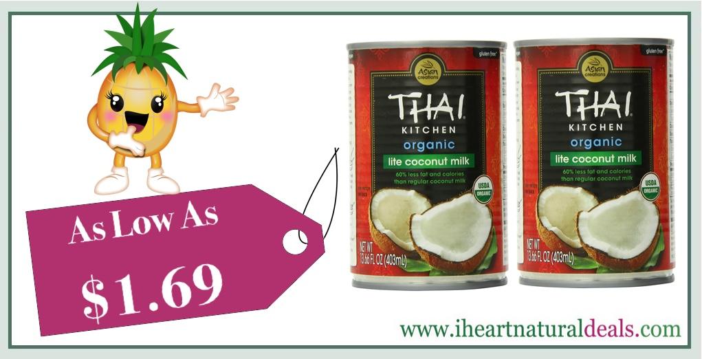 Thai Kitchen Organic Lite Coconut Milk, 6 Pack   As Low As $10.14 (or $1.69  Each)