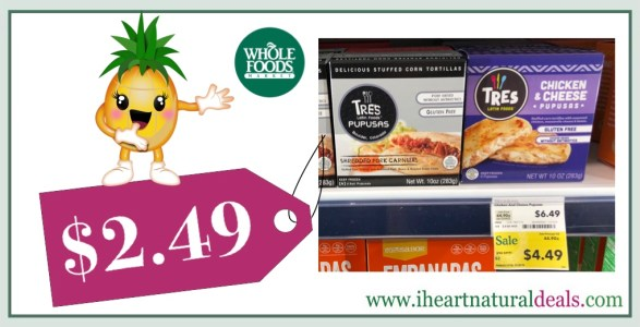 Tres Latin Pupusas Only 249 At Whole Foods