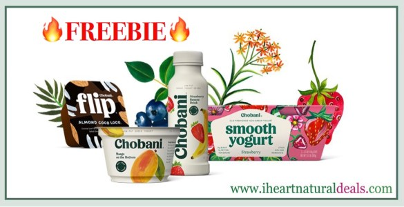 FREE Chobani Greek Yogurt, Flip, Drink or Smooth 2 Pack