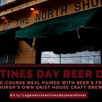Legends Valentines Day Beer Dinner 2018