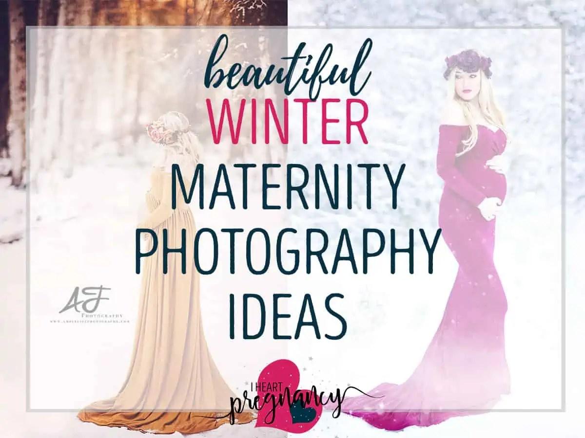 13 Winter Maternity Photography Ideas