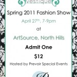 {You're Invited} Vestique.com Fashion Show at North Hills on Wednesday