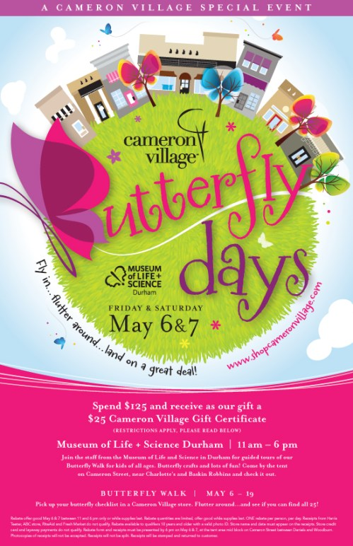 Cameron Village Butterfly Days