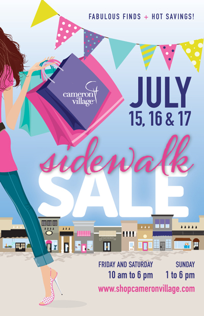 cameron village sidewalk sale