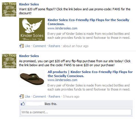 Kinder Soles facebook sale