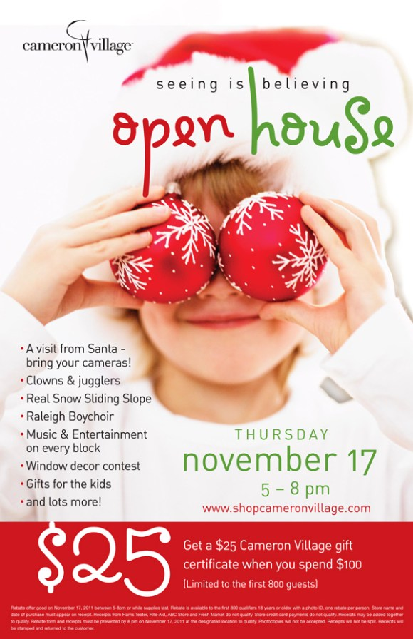 Cameron Village Holiday Open House 2011