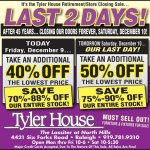 {Sale Alert} Tyler House Retirement/Closing Sale this Weekend