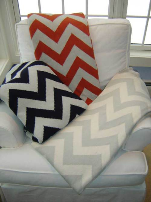Chevron throws on sale at Fleur