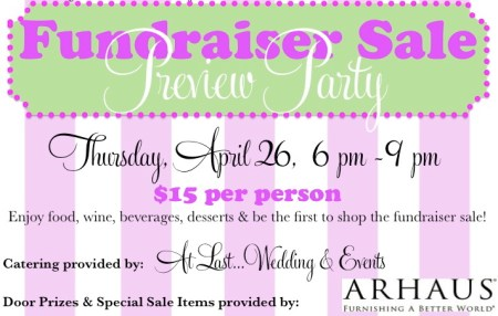 Spring Fundraiser Sale Preview Party at The Green Chair Project
