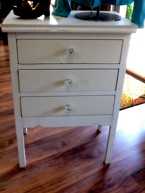 Tall nightstand only used for retail display on sale for $125 at Gypsy Jule
