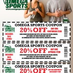 20 percent off coupons from Omega Sports