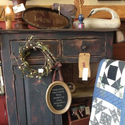 Cabinet and home accessories at The Rusty Bucket