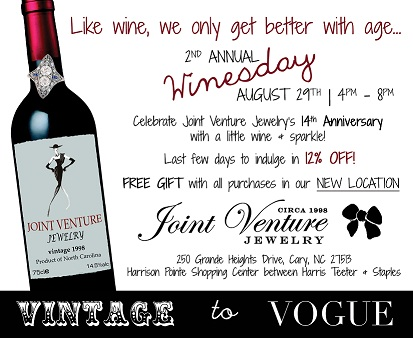 WINESDAY at Joint Venture Jewelry and Peachy Keen