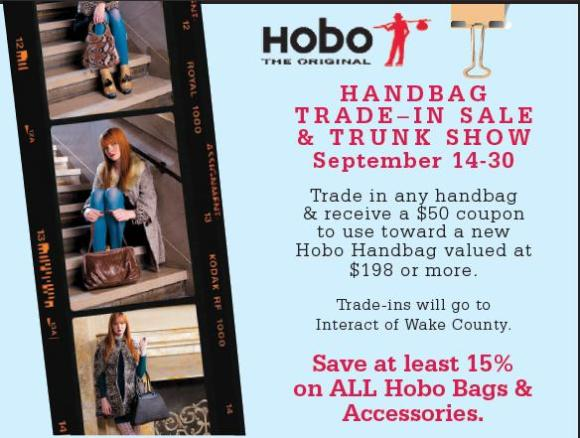 Hobo Trade In Sale and Trunk Show at The Globetrotter