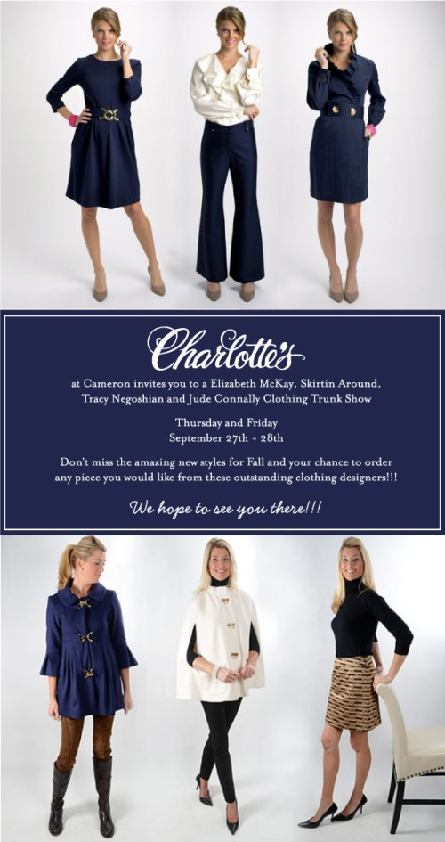Charlotte's Clothing Trunk Show at Cameron Village