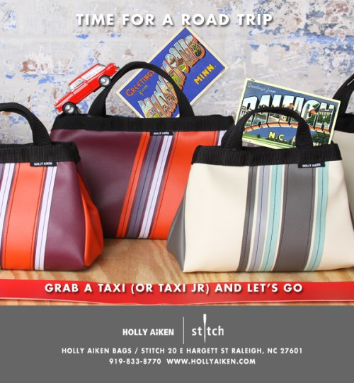 Holly AIken Stitch Taxi bag