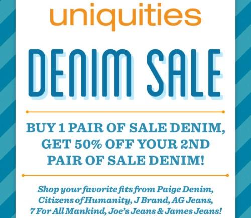 Summer sale on denim at Uniquities