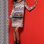Modernist Mindset - Graphic print long sleeve dress