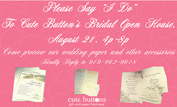 Cute Buttons Gift and Paper Boutique bridal open house