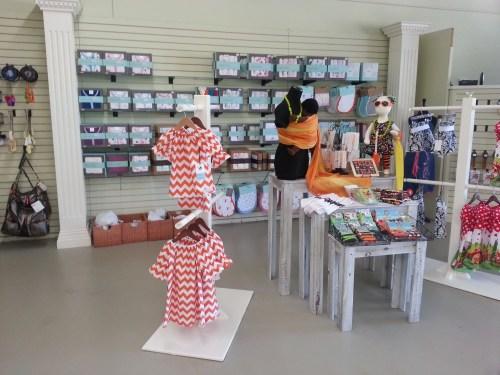 Orange Chevron dresses at SweetBottoms Baby