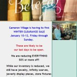 Final Sale at Beleza in Cameron Village