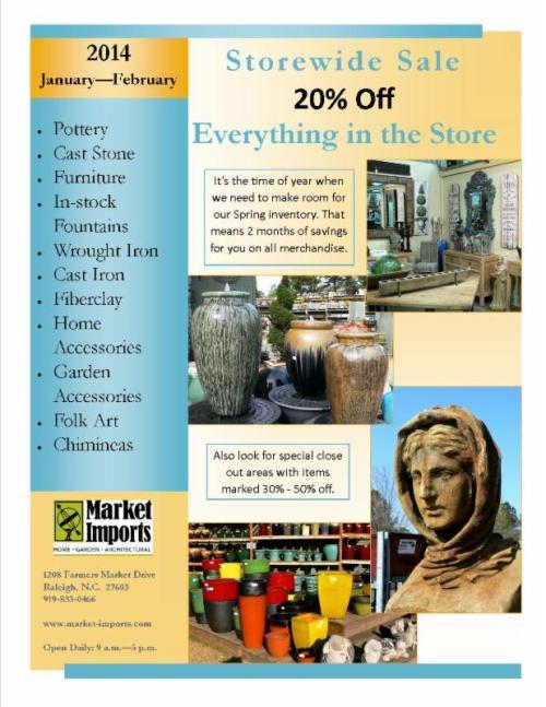 Storewide sale at Market Imports