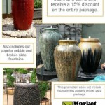 April fountain promotion at Market Imports in Raleigh at NC State Farmers Market