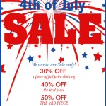 4th of July sale at Charlotte's