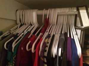 The wrong way hanger trick for cleaning out your closet