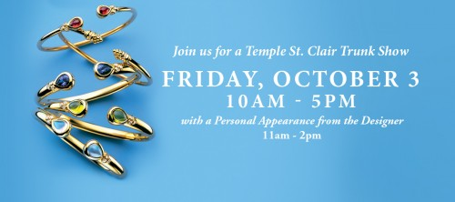 Temple St. Clair appearance and trunk show at Baileys