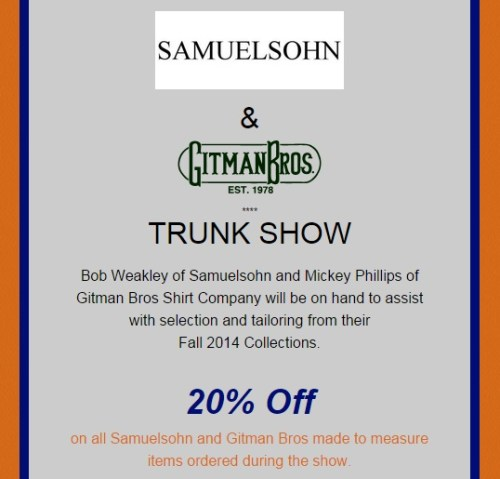 Kannon's trunk show in Cameron Village