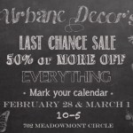 Urbane Decor last chance sale