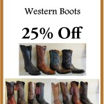 25% off Lucchese western boots at Kristen's in Cameron Village