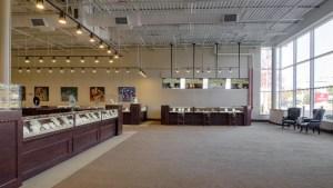 Raleigh Diamond jewelry showroom - interior