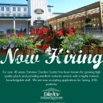 Fairview Garden Center Now Hiring