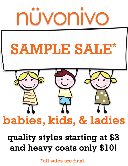 nuvonivo's first sample sale