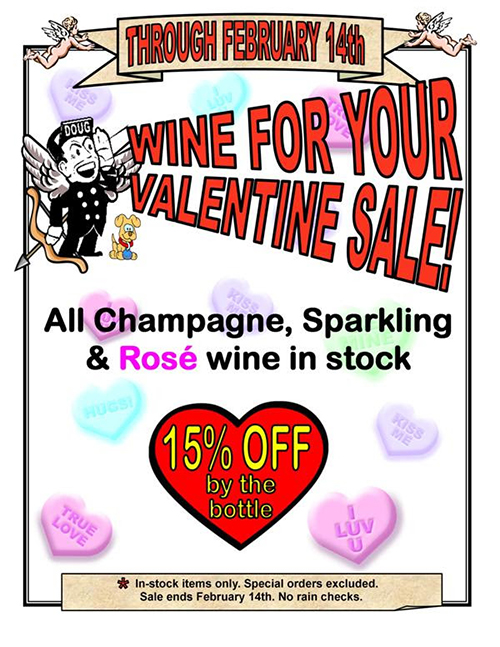 Valentine's wine sale at Seaboard Wine