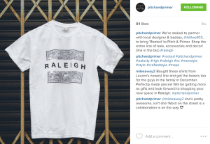 """Rooted"" collection's Raleigh tee featured on Pitch & Primer"